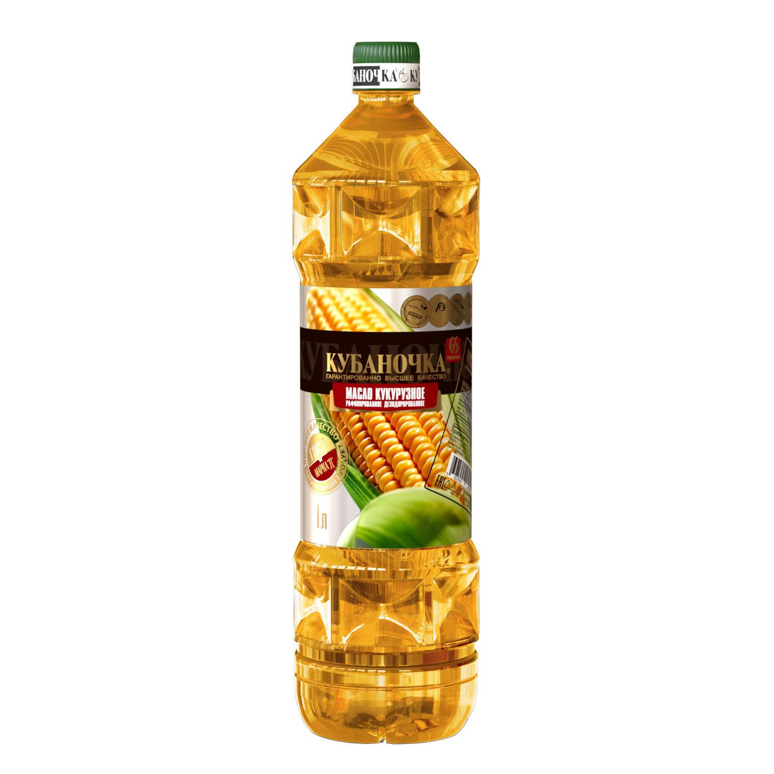 Масло кукурузное рафинированное, Объем: 1 л