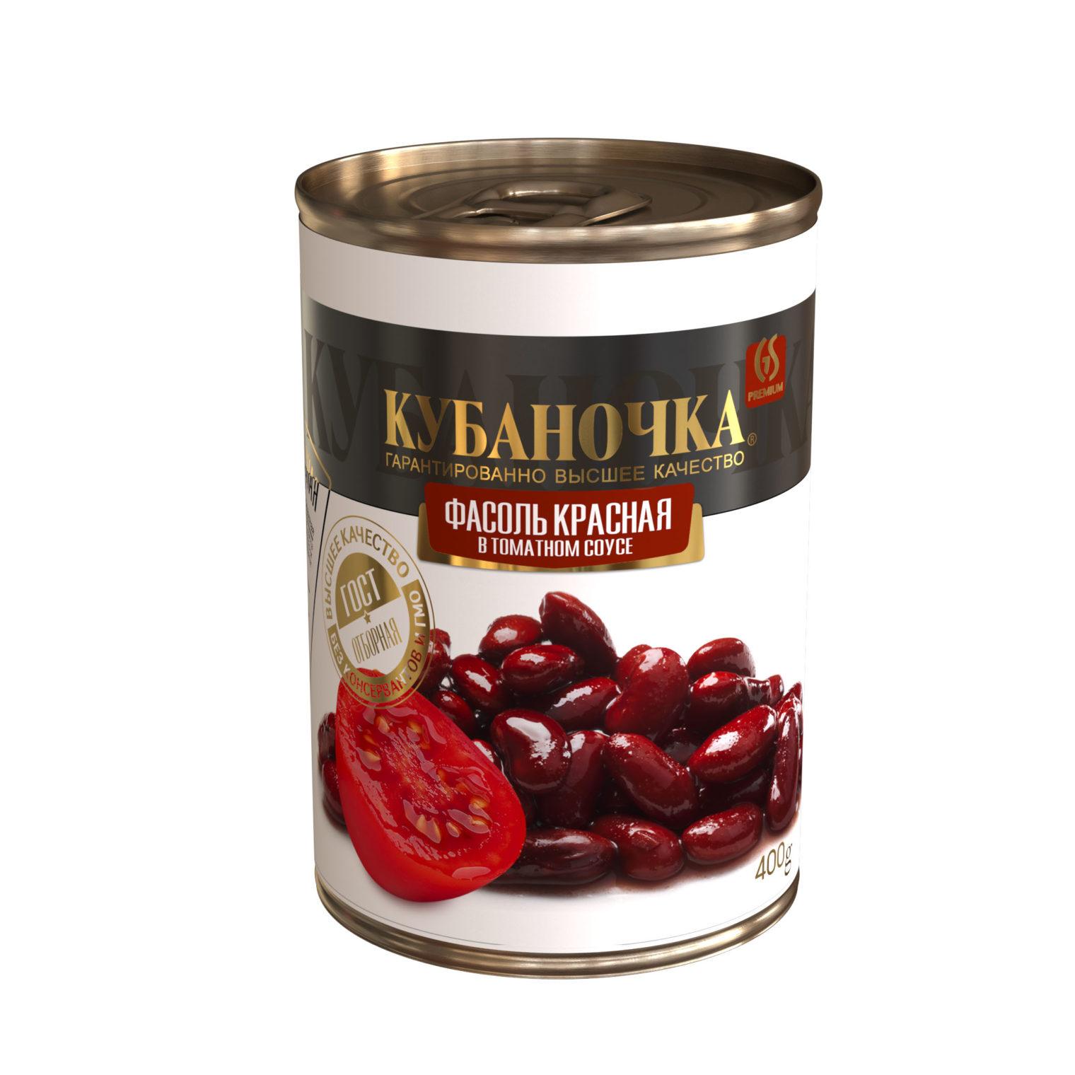 Фасоль красная в томатном соусе, Масса: 400 г
