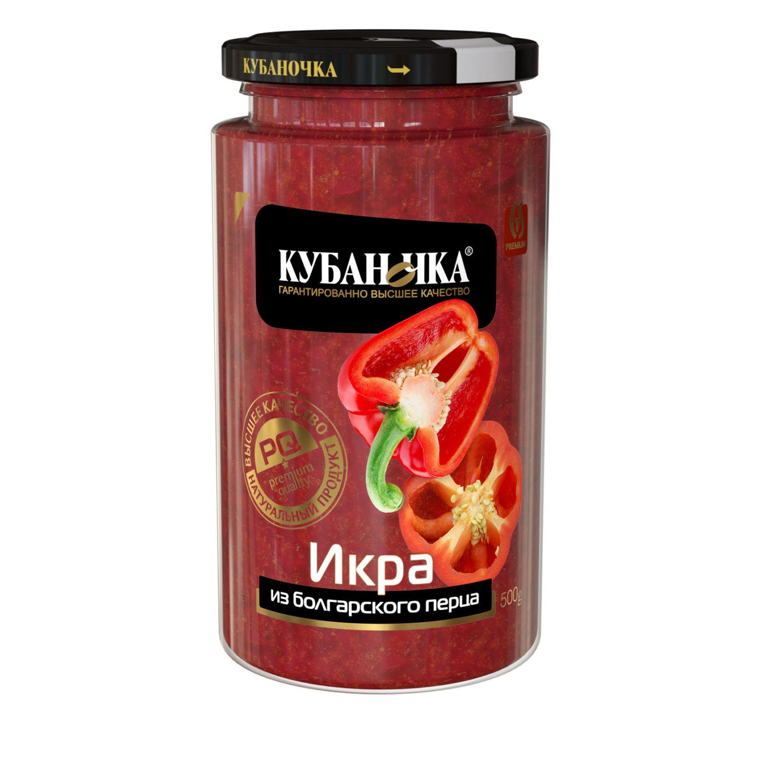 Икра из болгарского перца, Масса: 500 г