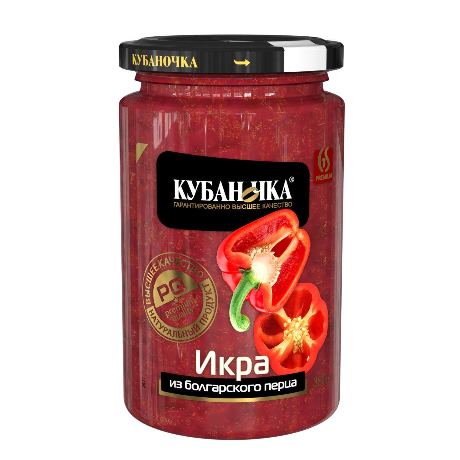 Икра из болгарского перца, Масса: 350 г