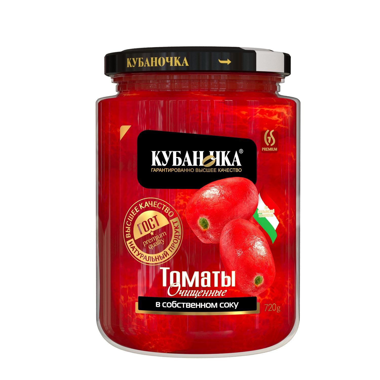 Томаты очищенные в томатном соке, Масса: 720 г
